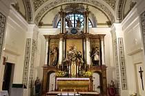 Interiéry v kostele v Třebovici prošly rekonstrukcí.