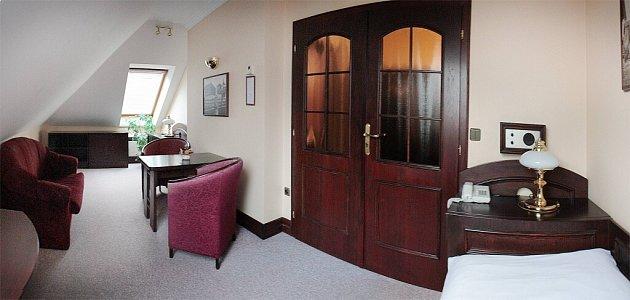 Apartmá hotelu Bravo, vněmž pobývá prezident Miloš Zeman.