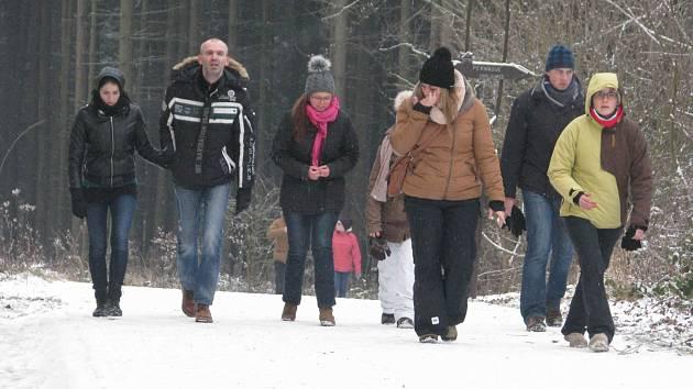 Novoroční výstup na Andrlův Chlum 2016.