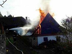 Požár v Zádolí.