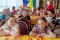 Děti z Ukrajiny na ozdravném pobytu v Pastvinách.