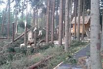 Zničený Mamutíkův vodní park v Dolní Moravě