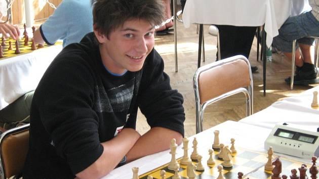 Nejlepší z Oušťáků v turnaji rapid šachu Martin Pečinka.