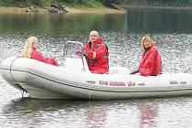 Vodní záchranáři na Pastvinách.
