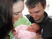 Markéta Šponarová je prvorozená dcera Denisy a Martina ze Záchlumí. S váhou 2860 g se narodila dne 13. 1. v 19.29 hodin.