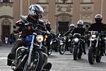 Poslední vyjížďka motorkářů z Letohradu.