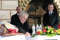 Prezident Miloš Zeman při své třídenní cestě Pardubickým krajem navštívil i Lanškroun.