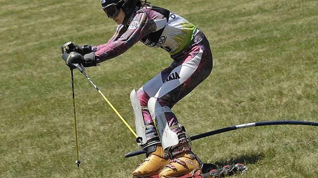 Travní lyžování v Čenkovicích.