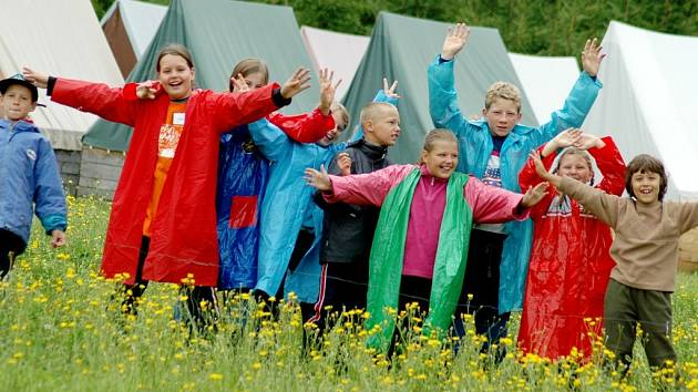 Děti se na tábor velmi těšily.