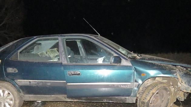 Následky havárie opilého šoféra.