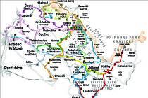 Mapa cykllobusů.