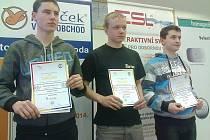 """Vítězové krajského kola soutěže odborných dovedností """"Učeň instalatér 2014""""."""