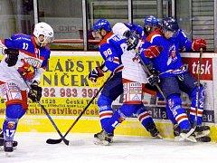 Krajská hokejová liga, semifinále play off: HC Kohouti Česká Třebová - HC Litomyšl.