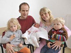 Lea Zbořilová se narodila 11. května ve 23.01 hodin. Od té doby dělá radost rodičům Monice a Pavlu i sourozencům Ellence a Šimonkovi z Dolní Dobrouče. Vážila 3,21 kg.