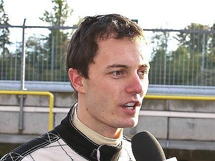 Automobilový závodník Jiří Janák.