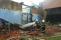 Požár ve Vraclavi.