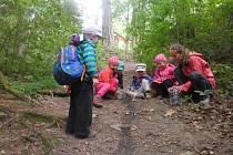 Lesní klub Strom života na vycházce