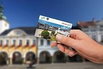 Městská karta Ústí nad Orlicí.