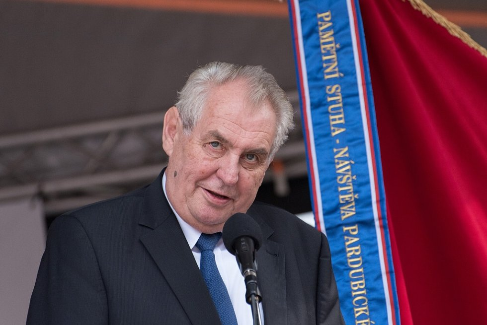 Z návštěvy prezidenta Miloše Zemana v Letohradu.