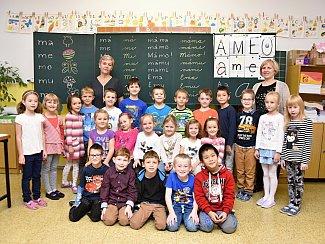 Žáci ze třídy 1. A ze Základní školy U Dvora v Letohradu.