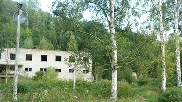 Zpustlá osada Kouty.