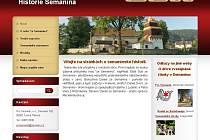 Webové stránky o Semaníně zaměřené na historii obce.
