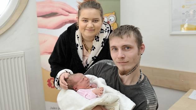 Marie Jiřánková, tak pojmenovali dceru Sandra a Tomáš z Ústí nad Orlicí. Když se 14. 11. v 10.22 hodin narodila, vážila 3,966 kg.