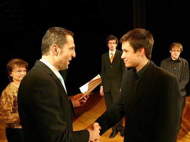 Z předávání ocenění Talent 2010.