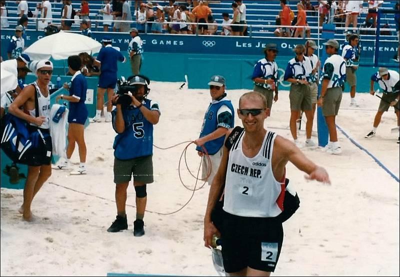 M. Pakosta a M. Palinek na kurtu - Olympiáda v Atlantě 1996