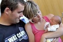 Lukáš Pánik je první radostí pro Gabrielu Sekaninovou a Marcela Pánika z Rychnova na Moravě. Když se 29. července ve 12.11 narodil, vážil 2,47 kilogramu.