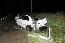 Auto zůstalo po nehodě na odpis.