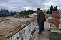 Ze stavby nového sběrného dvora v Lanškrouně.
