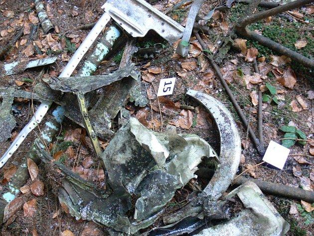 Místo dopadu polského vrtulníku SM-2, který havaroval 12. října 1968.