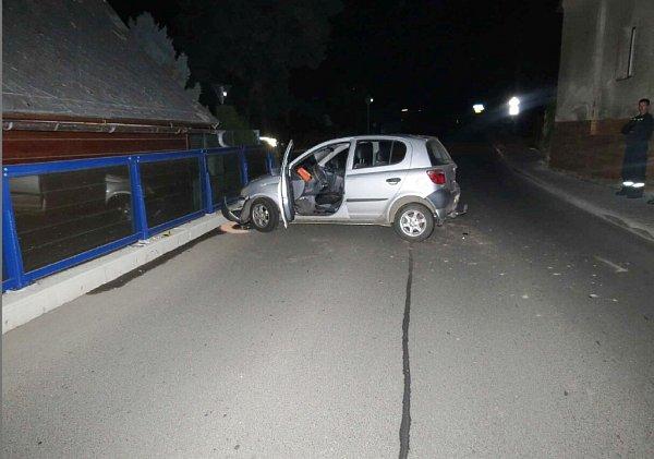 Dopravní nehoda vKrálíkách.