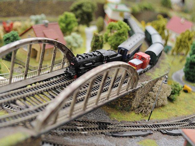 Z výstavy kolejišť a železničních modelů v Chocni.