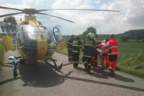 Dopravní nehoda motorkáře v Chocni.