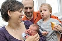 David Nedvídek se narodil 27. dubna ve 20.32 hodin rodičům Petře Balcarové a Aleši Nedvídkovi z České Třebové, kde už mají syna Filípka. Vážil 3,04 kg.