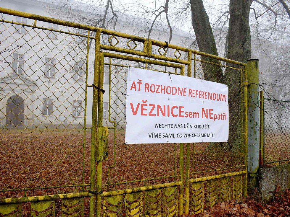 Protest proti vybudování věznice v Králíkách.