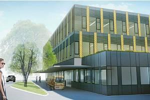 Vizualizace nového centrálního urgentního příjmu v orlickoústecké nemocnici.