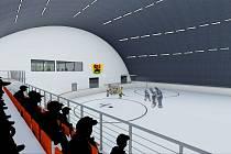 Vizualizace zimního stadionu.