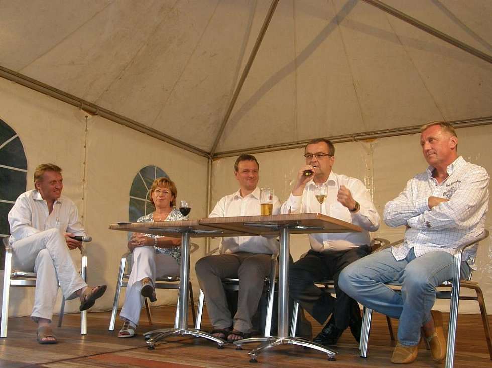 Zbigniew Czendlik,Ludmila Müllerová,Martin Komárek,Miroslav Kalousek a Mirek Topolánek. (zleva)