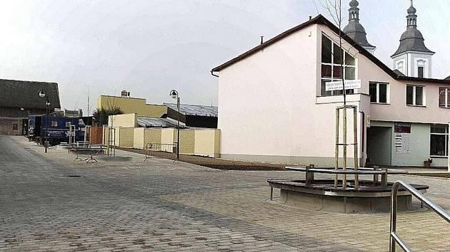 Pěší zóna v Žamberku.