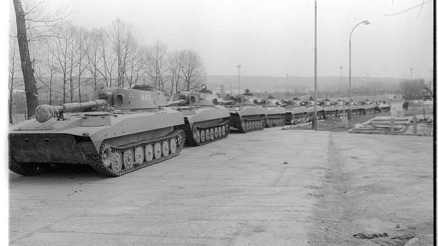 Odsun sovětské posádky z České Třebové, 18. dubna 1990
