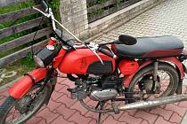 Ukradený motocykl.