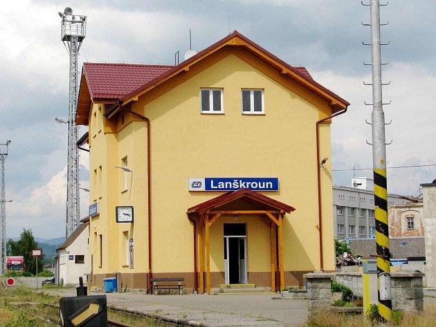 Nádraží v Lanškrouně. Ilustrační foto.