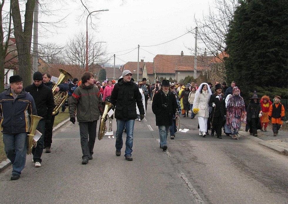 V Dobříkově se konal v sobotu pátý masopust.