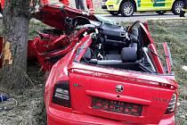 Tragická nehoda u obce Nepomuky.