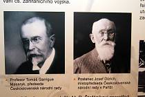 Výstava ke vzniku samostatného Československa ve vestibulu Roškotova divadla v Ústí nad Orlicí.