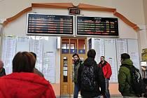 Zpoždění vlaků.