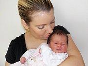 Alžběta Horáčková se narodila 1. 9. v 13.38 hodin a vážila 3160 g. Doma ve Vysokém Mýtě bude těšit rodiče Šárku Bezdíčkovou a Martina Horáčka.